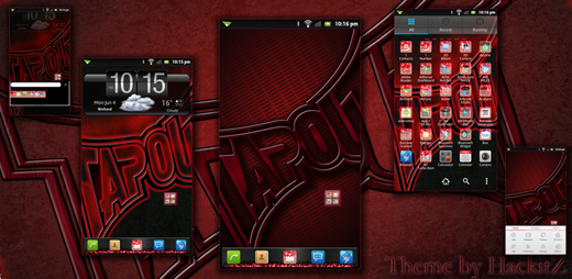 Go Launcher MMA RED Theme