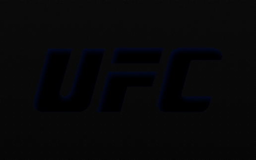 Large Ufc Logo Black Carbon Fiber Blue Outline Ufc Logo