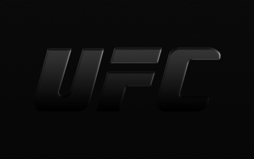 Large Ufc Logo Black Carbon Fiber Dark Ufc Logo Desktop
